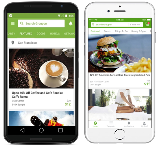 Groupon Mobile app