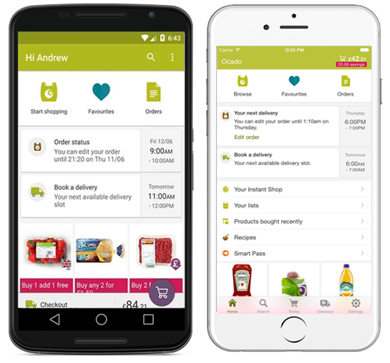 Ocado Mobile app