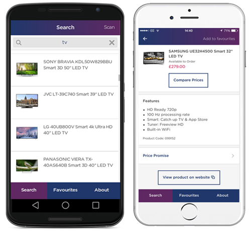 Currys Mobile Application