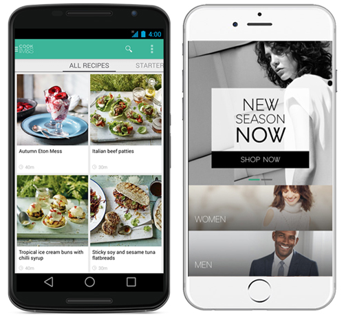Marks and Spencer mobile app