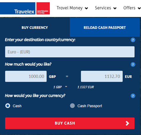 Travelex Promo Code website view Travelex is committed to helping travelers get the foreign currency they need no matter where in the world their next adventure is taking them. They offer currency exchange services for over 45 different types of currency, and customers simply need to place their order online, pick it up at a location or have it.